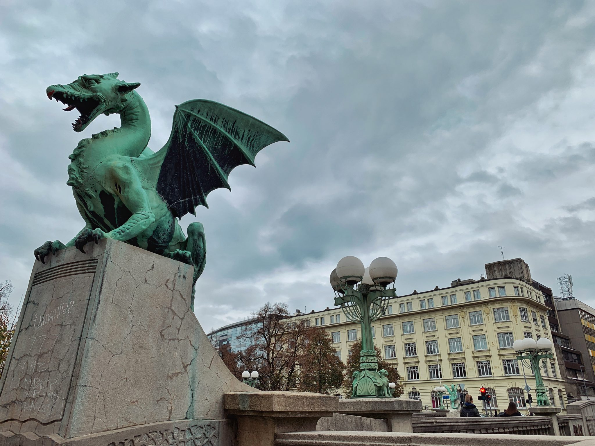 Dragon statue in Ljubljana